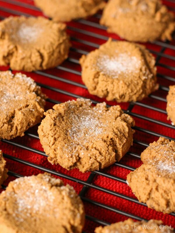 These soft molasses cookies are especially easy to make thanks to an ingredient shortcut!