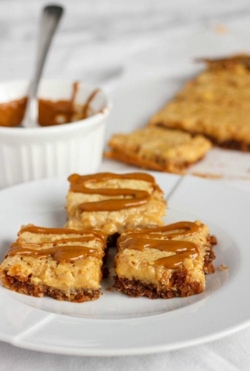 Banana Bread Bars with a Peanut Butter-Molasses Drizzle by: The Cookie Writer