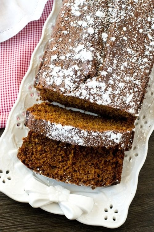 Gingerbread Loaf by: Taste of Lizzy T's