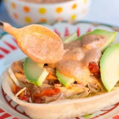 Slow Cooker Chicken Tacos with Seasoned Yogurt