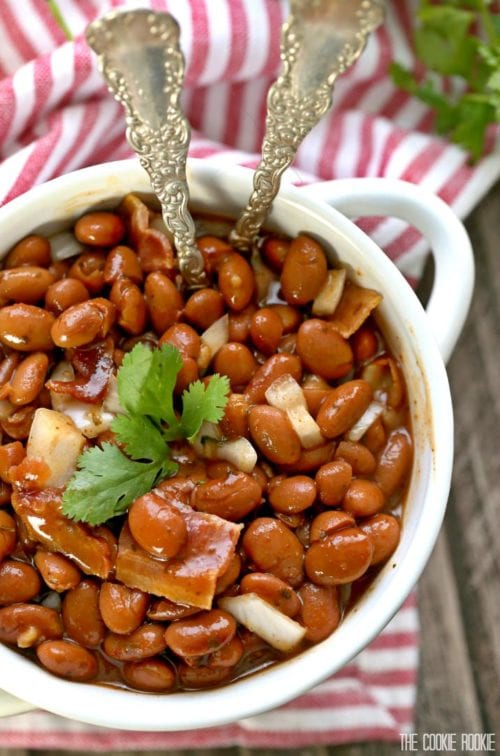 Bourbon Baked Beans by: The Cookie Rookie
