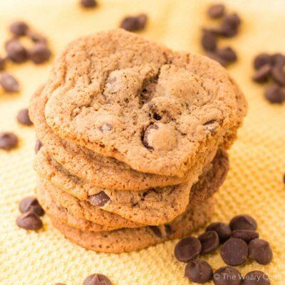 Chocolate Chip Hot Chocolate Cookies