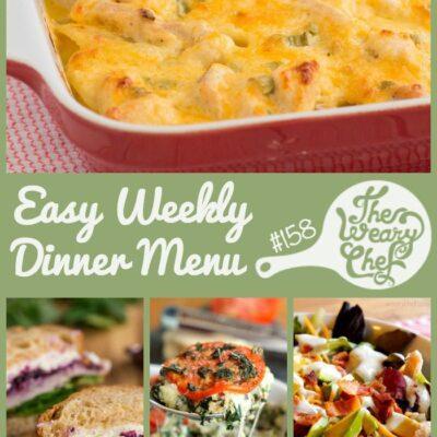 Easy Weekly Dinner Menu #158: Turkey Recipes Galore