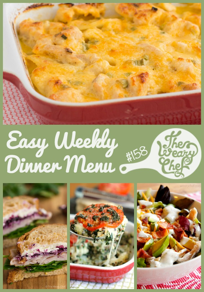 Turkey recipes are all over the place in this week's menu. Casseroles, sandwiches, salads, and more!