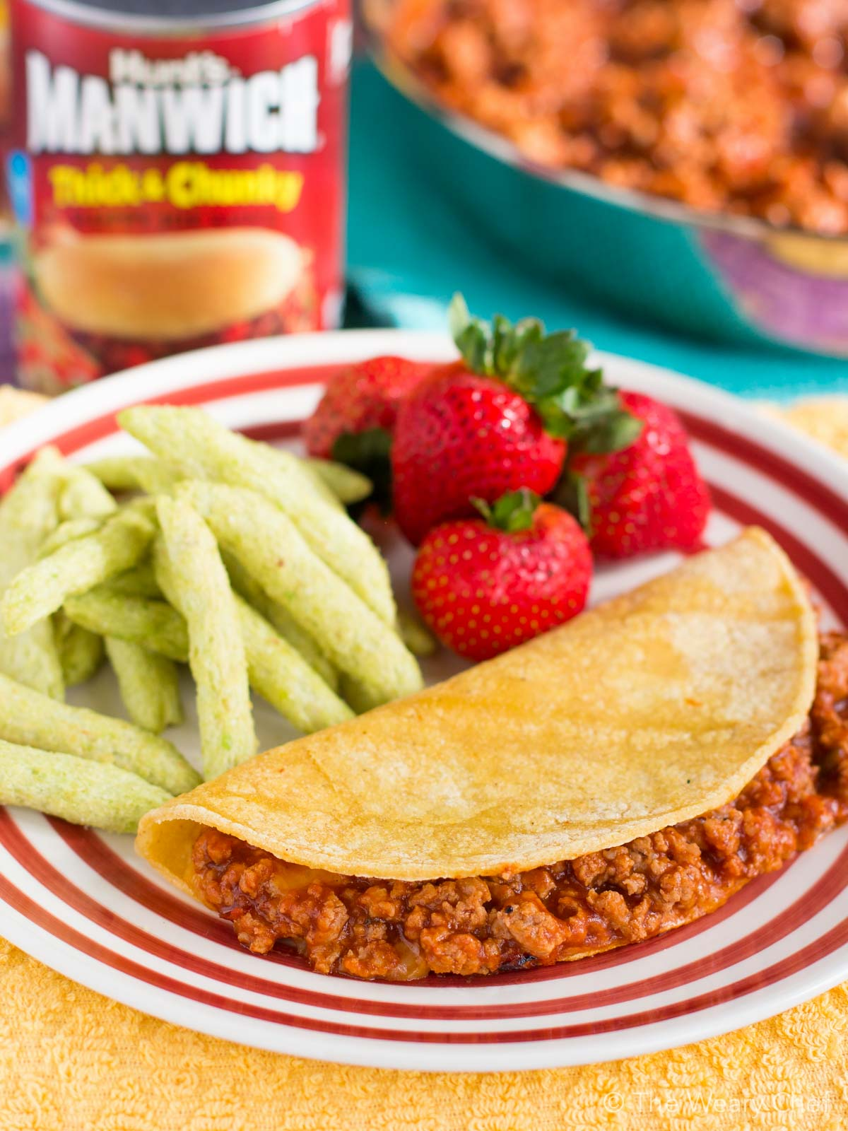 Looking for a fun weeknight dinner idea? Look no further than this easy, filling, and wholesome Sloppy Joe Quesadilla Recipe!