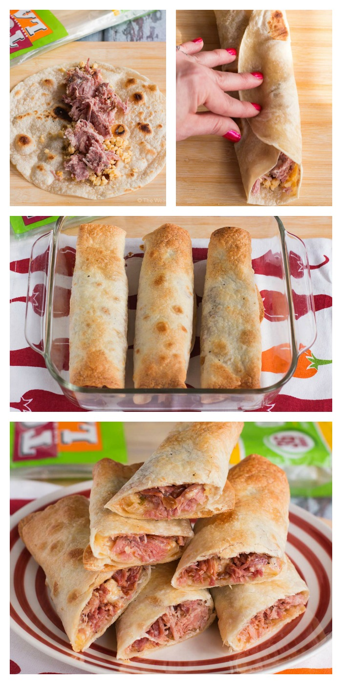 Get ready for a perfect gameday snack or meal with these easy, spicy BBQ Pork Flautas!