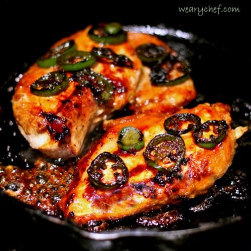 Spicy Molasses Chicken by: The Weary Chef