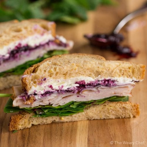 Turkey Sandwich with Goat Cheese and Jam