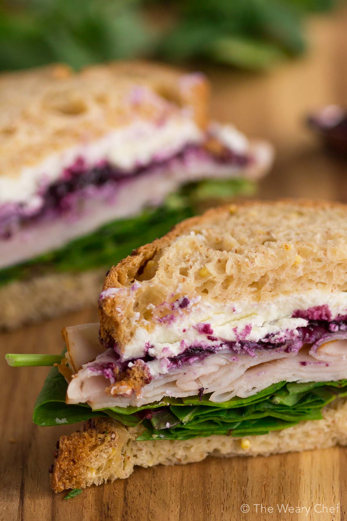 Don't be nervous. One bite of this Turkey Sandwich with Goat Cheese and Berry Preserves and you'll be hooked!