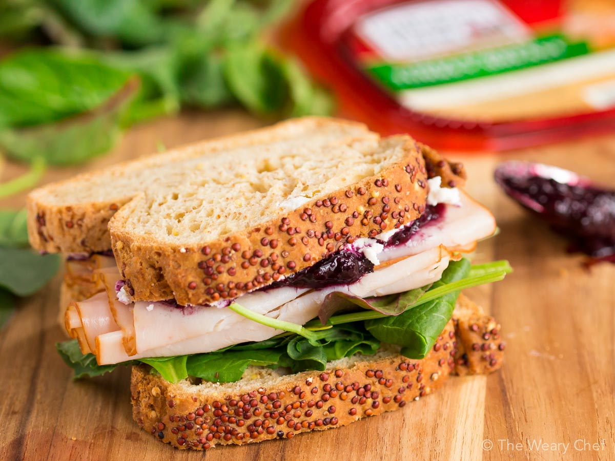 Turkey Sandwich with Goat Cheese and Jam - The Weary Chef