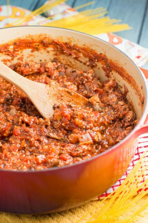If you are looking for a hearty vegetarian spaghetti sauce, this is it! Loaded with tofu, mushrooms, and tomatoes, you will never miss the meat.