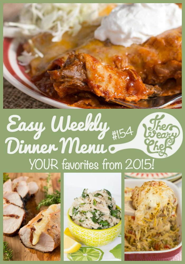 This week's menu features YOUR favorite new dinner recipes from 2015. Come see what was number one!