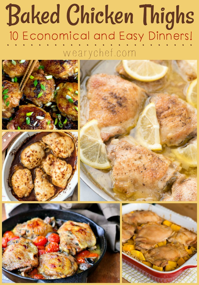 You can't beat baked chicken thighs for a delicious, frugal, and easy dinner!