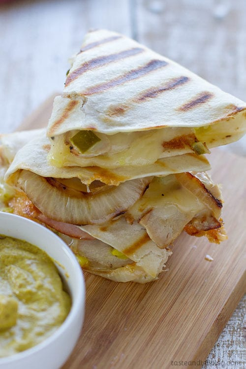Cuban Quesadilla Recipe by Taste and Tell Blog