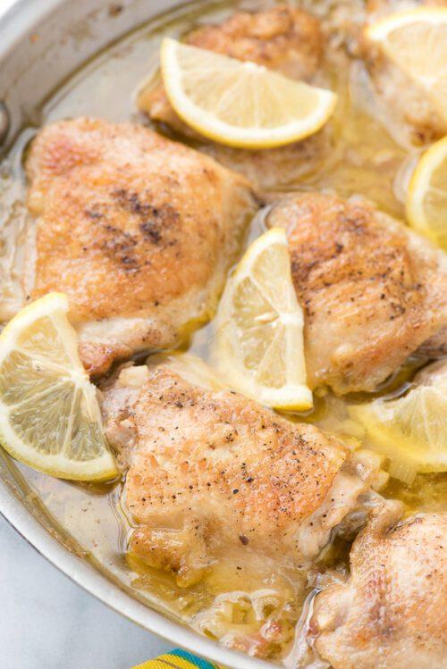 Irresistible Lemon-Garlic Chicken Thighs by Boulder Locavore