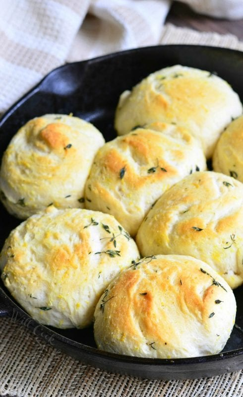 Lemon Thyme Skillet Biscuits by Will Cook for Smiles