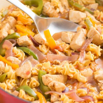 One Pot Fajita Chicken Pasta Recipe