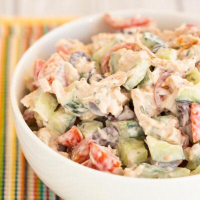 Easy Greek Chicken Salad Recipe