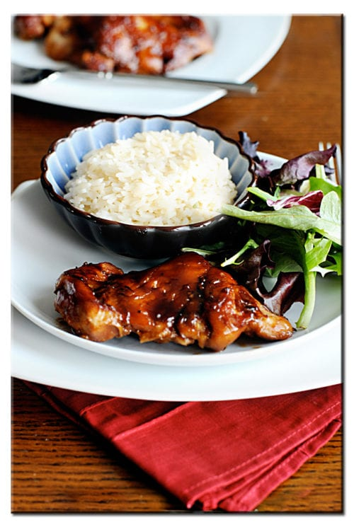 Oven Baked Terriyaki Chicken Thighs by Dine and Dish