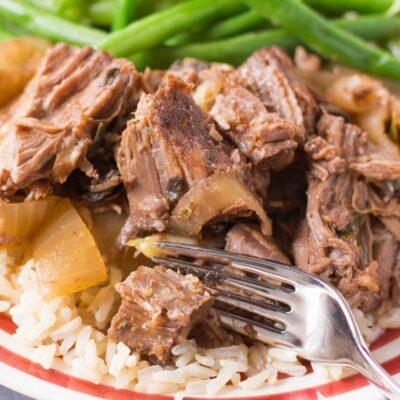 Dragon Breath Slow Cooker Pot Roast Loaded With Garlic and Onions