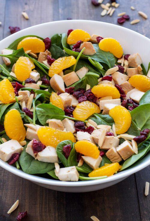 Terriyaki Chicken and Spinach Salad by Recipe Runner