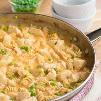 Skillet Buffalo Chicken Pasta Recipe
