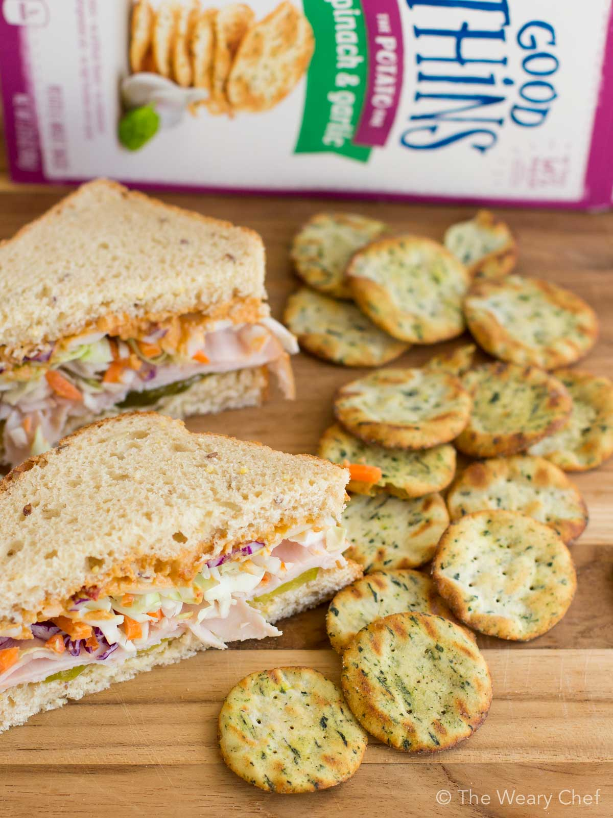 Crunchy Turkey Hummus Sandwich with Nabisco GOOD THiNS!