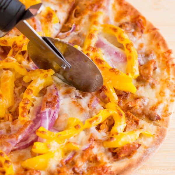 This quick and easy tilapia pizza makes a PERFECT lunch or dinner!