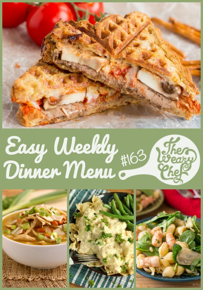 This week's menu of easy dinner recipes features new favorites like Italian Roast Beef Sandwiches and Shrimp Pasta Salad. I also included some quick fix meals that don't even need a recipe.