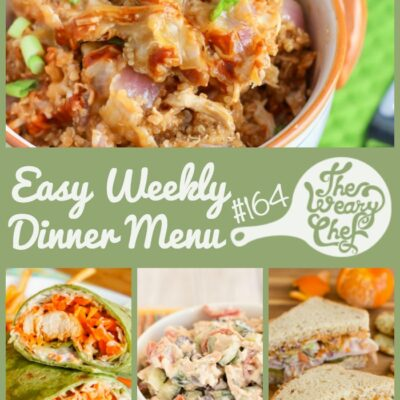 Easy Weekly Dinner Menu #164: Sandwiches, Wraps, and More