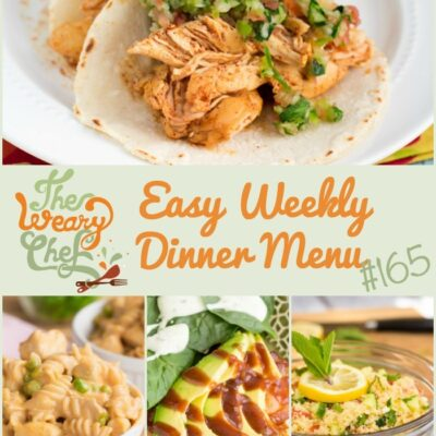 Easy Weekly Dinner Menu #165