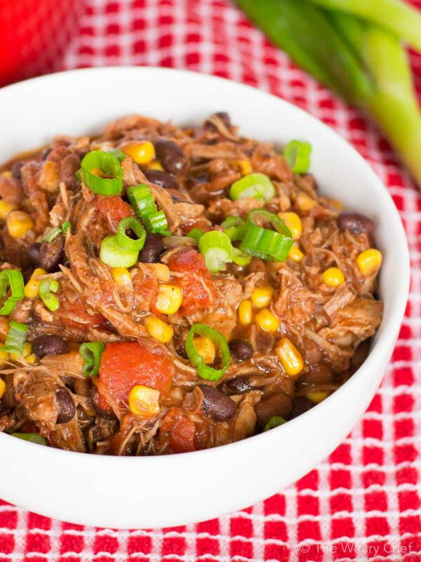 Got leftover pork roast? You won't believe how easy and delicious this leftover pork chili recipe is!