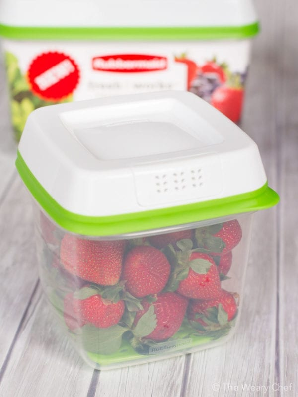 Keep your produce 80% fresher than with store packaging with Rubbermaid® Freshworks™ Produce Saver!