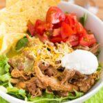 Crockpot Pork Burrito Bowls