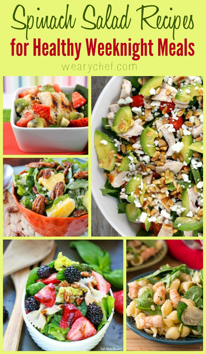 We're all looking for healthy weeknight meals, and these spinach salads are the perfect answer!