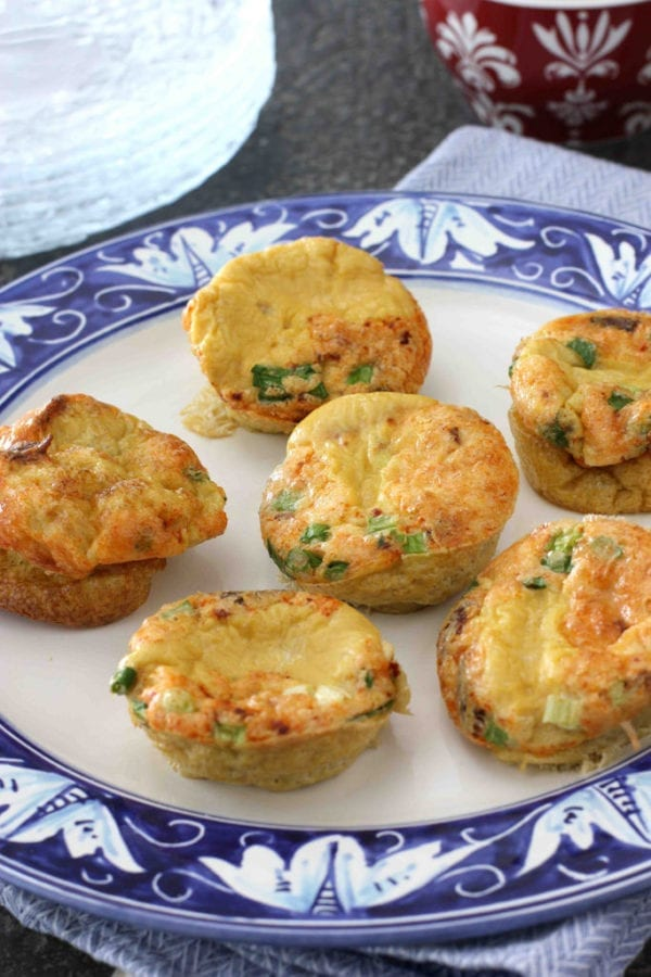 Mini Fritatas with Bacon, Parmesan Cheese & Green Onions Recipe by Cookin' Canuck