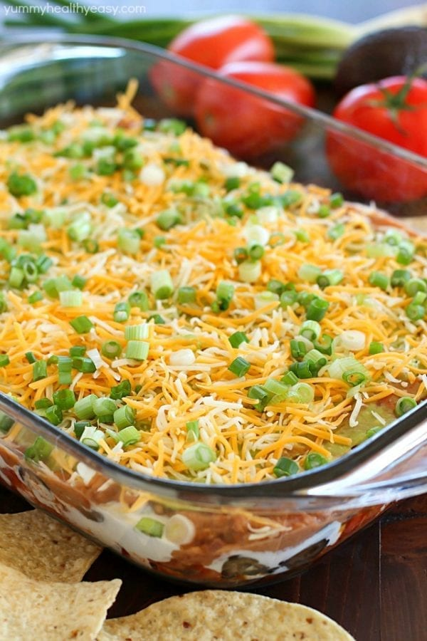 7-Layer Bean Dip by Yummy Healthy Easy