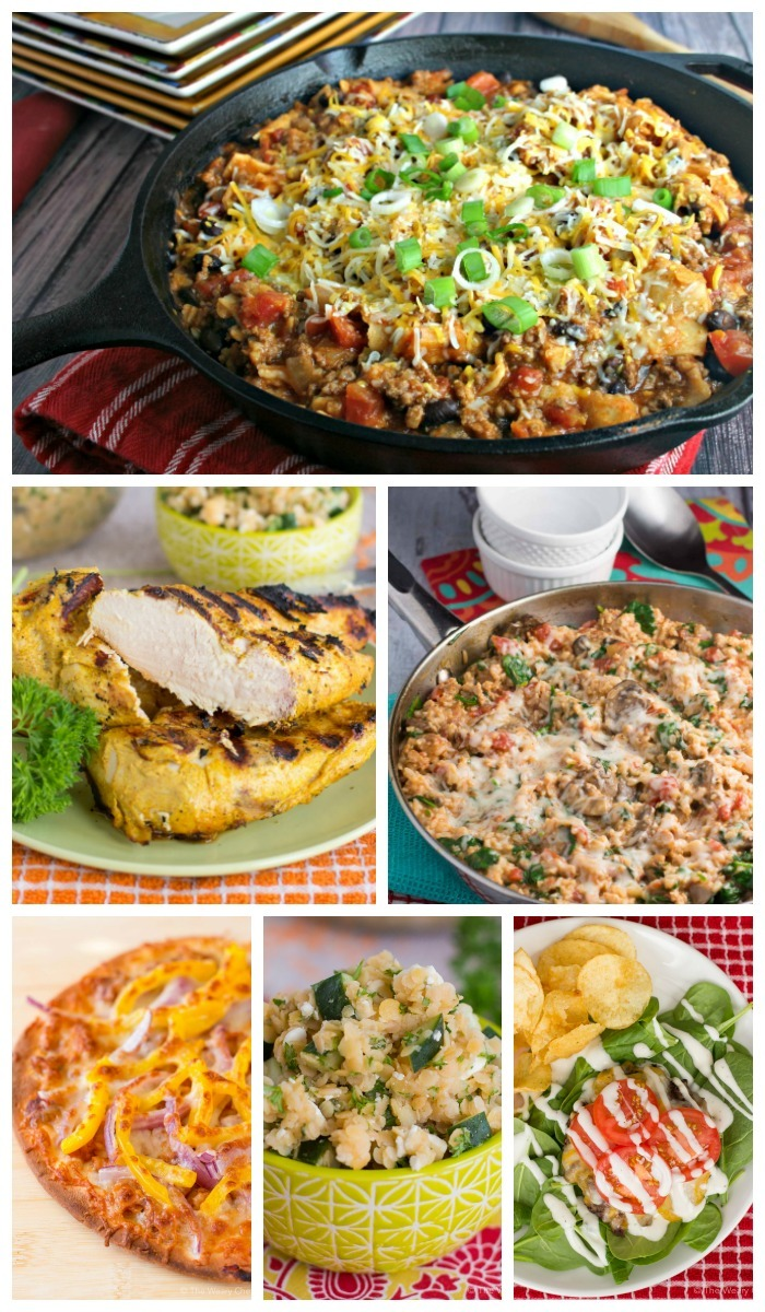 This week's easy dinner recipes include Enchilada Skillets, Pesto Pizza Grilled Cheese, Tandoori Chicken, and lots more!