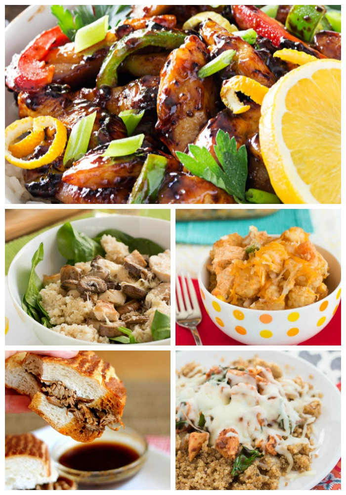 What's for dinner this week? How about Cajun Honey Chicken, Chicken Tater Tot Casserole, Slow Cooker French Dips, and lots more!
