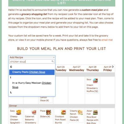 Weekly Menu #170: Introducing Your Custom Meal Planner!