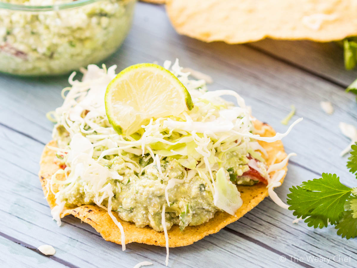 These tasty guacamole tostadas have a sneaky protein source and ...