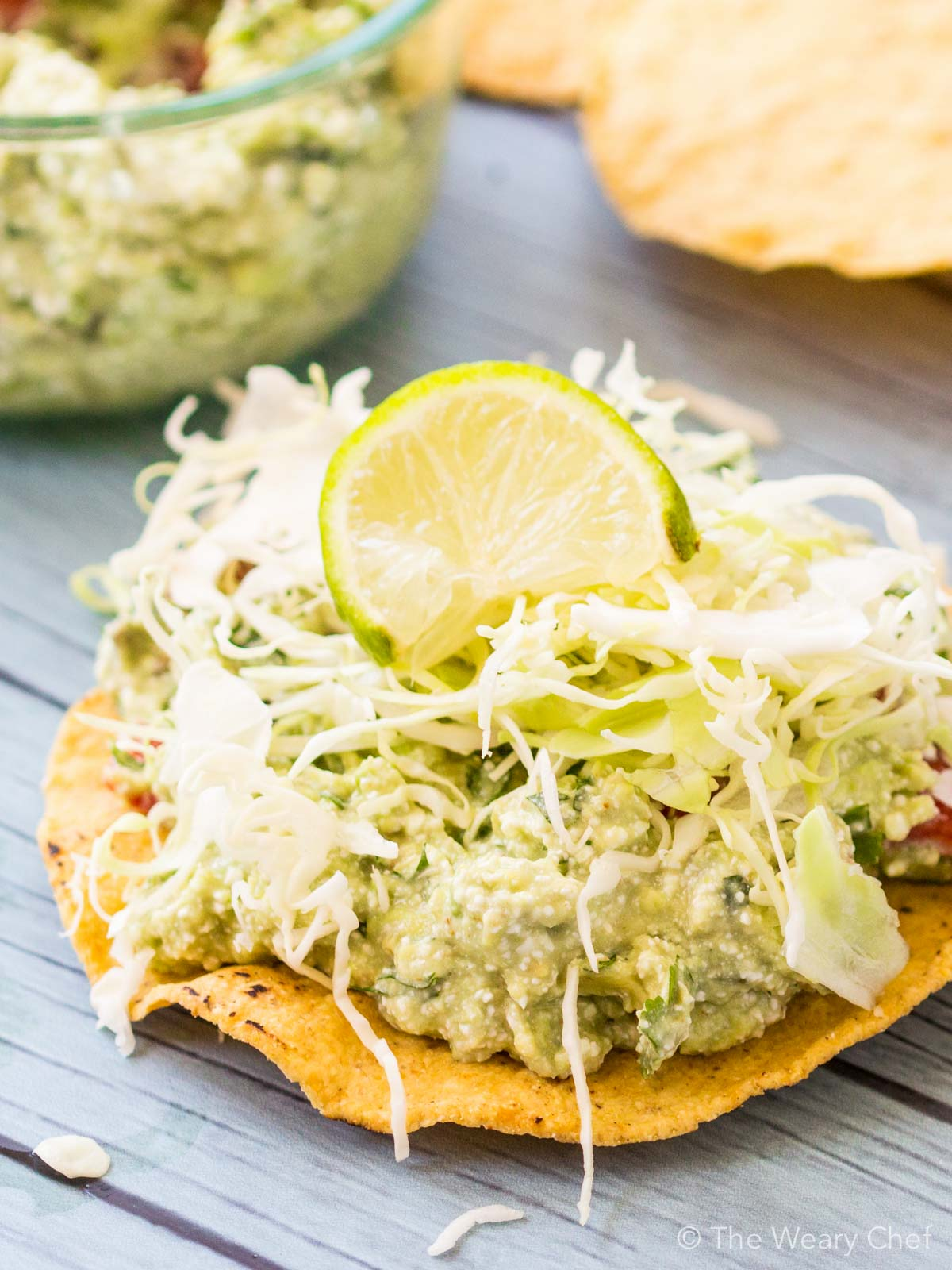 These tasty guacamole tostadas have a sneaky protein source and require NO cooking!
