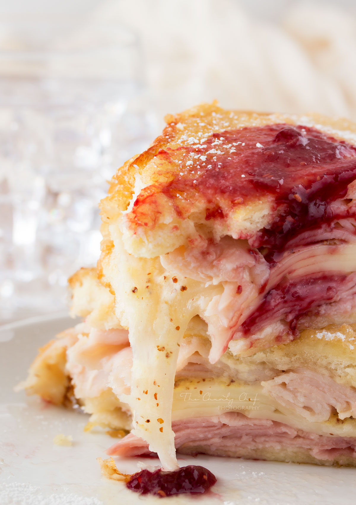 This monte cristo sandwich has the perfect balance of sweet and savory.