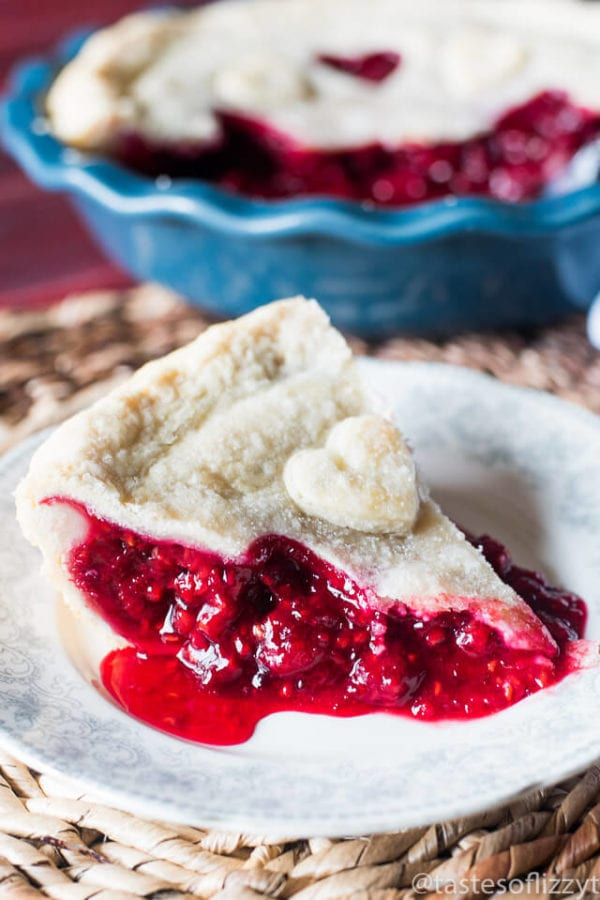 Baked Red Raspberry Pie by Tastes of Lizzy T