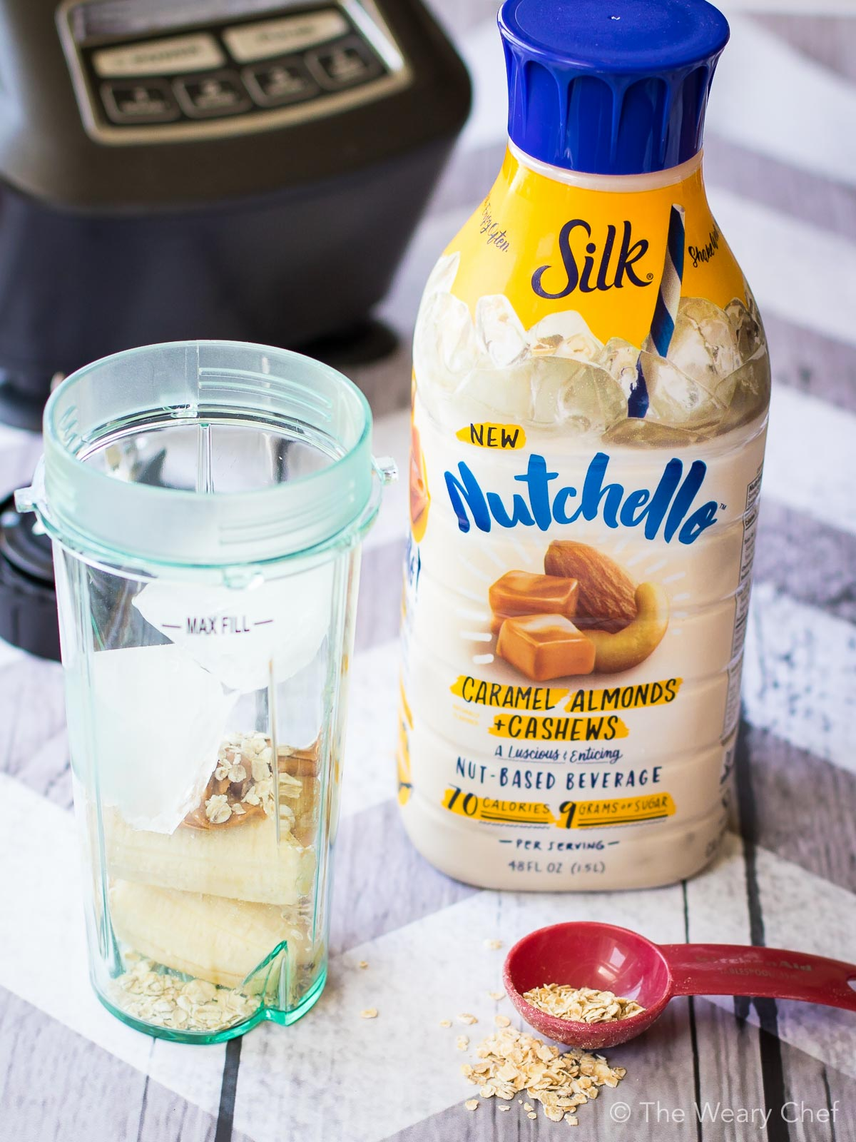 Whip up a smoothie with rich, creamy Silk Nutchello!