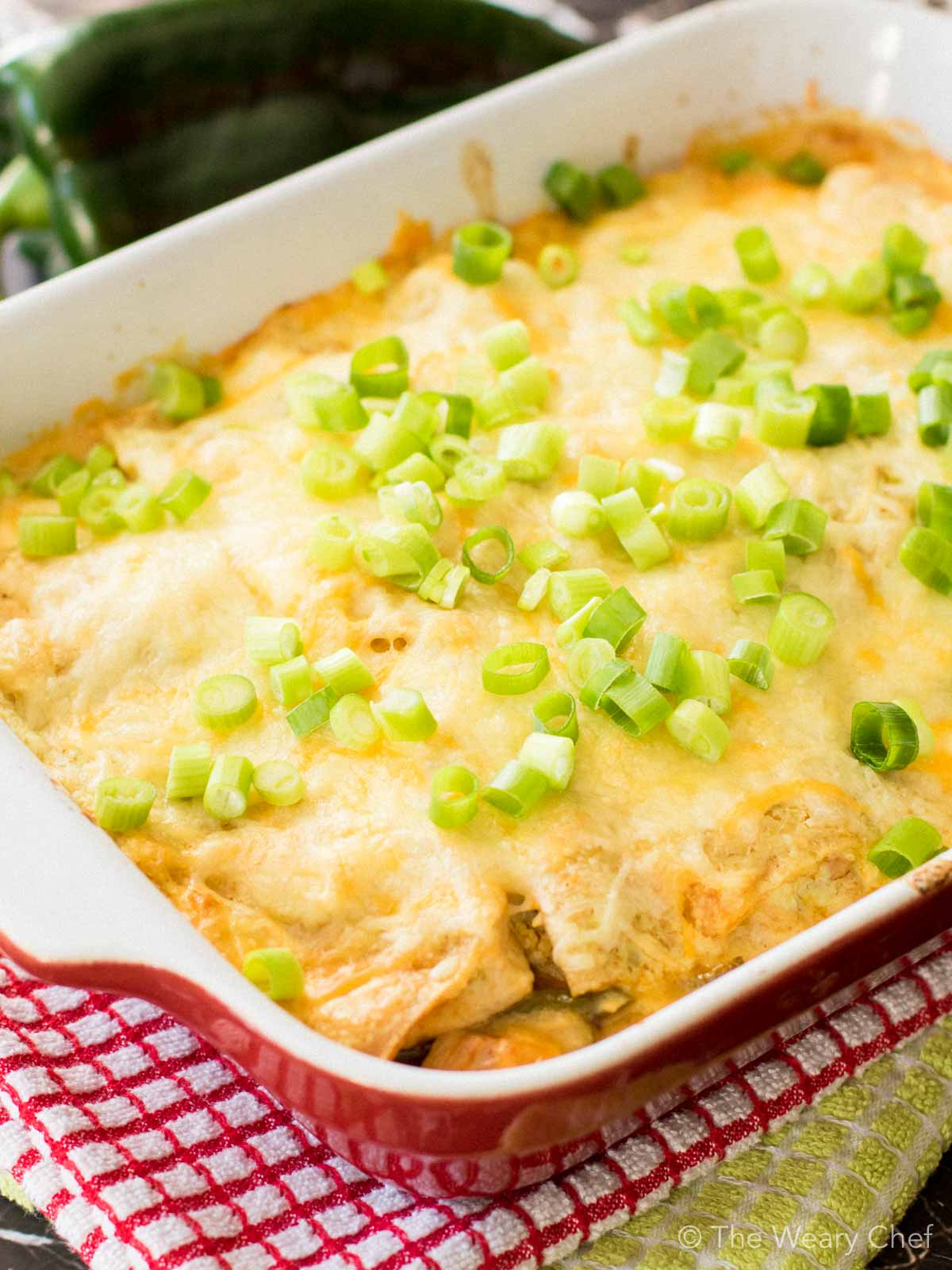 This layered chile relleno casserole is the definition of comfort food. Plus, it's gluten free!