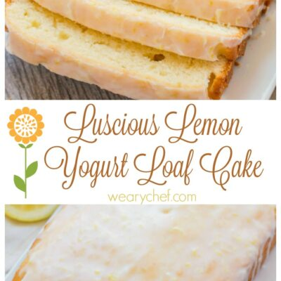 Best Lemon Loaf Cake with Yogurt