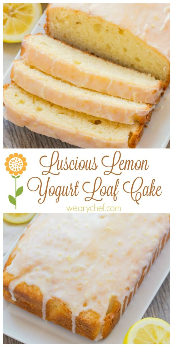 Pucker up for this wonderful yogurt loaf cake with lemon!