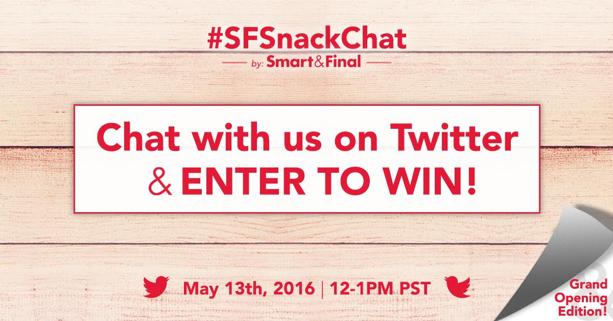 Join a Twitter party on May 11 for a chance to win a $250 gift card!