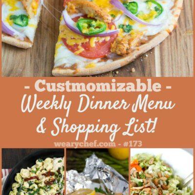 Weekly Dinner Menu #173: Two Meal Plans Collide